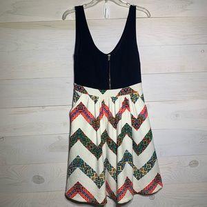 Maeve zip front dress